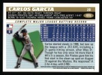 1996 Topps #415  Carlos Garcia  Back Thumbnail
