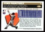 1996 Topps #168  Tino Martinez  Back Thumbnail