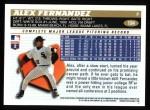 1996 Topps #194  Alex Fernandez  Back Thumbnail