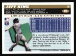 1996 Topps #116  Jeff King  Back Thumbnail