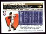 1996 Topps #138  Tim Wakefield  Back Thumbnail