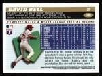1996 Topps #388  David Bell  Back Thumbnail