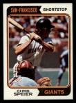 1974 Topps #129  Chris Speier  Front Thumbnail