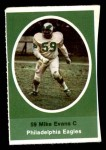 1972 Sunoco Stamps  Mike Evans  Front Thumbnail