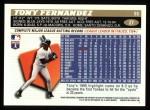 1996 Topps #27  Tony Fernandez  Back Thumbnail