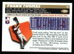 1996 Topps #100  Frank Thomas  Back Thumbnail