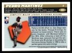 1996 Topps #303  Pedro Martinez  Back Thumbnail