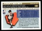 1996 Topps #354  Jimmy Haynes  Back Thumbnail