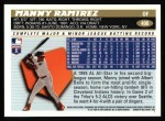 1996 Topps #400  Manny Ramirez  Back Thumbnail