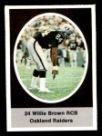 1972 Sunoco Stamps #477  Willie Brown  Front Thumbnail