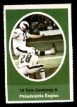 1972 Sunoco Stamps  Tom Dempsey  Front Thumbnail