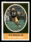 1972 Sunoco Stamps  Al Matthews  Front Thumbnail