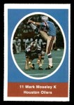 1972 Sunoco Stamps  Mark Moseley  Front Thumbnail