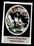 1972 Sunoco Stamps #475  Duane Benson  Front Thumbnail