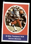 1972 Sunoco Stamps  Bill Thompson  Front Thumbnail
