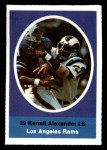 1972 Sunoco Stamps  Kermit Alexander  Front Thumbnail