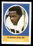 1972 Sunoco Stamps  Deacon  Jones  Front Thumbnail