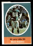 1972 Sunoco Stamps  Larry Little  Front Thumbnail