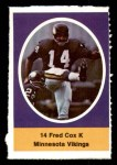 1972 Sunoco Stamps  Fred Cox  Front Thumbnail
