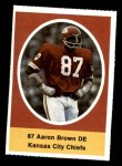1972 Sunoco Stamps  Aaron Brown  Front Thumbnail