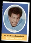 1972 Sunoco Stamps  Joe Beauchamp  Front Thumbnail