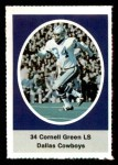 1972 Sunoco Stamps  Cornell Green  Front Thumbnail
