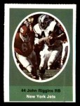 1972 Sunoco Stamps  John Riggins  Front Thumbnail