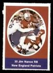 1972 Sunoco Stamps  Jim Nance  Front Thumbnail