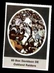 1972 Sunoco Stamps #472  Ben Davidson  Front Thumbnail