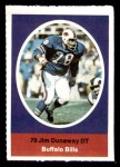 1972 Sunoco Stamps  Jim Dunaway  Front Thumbnail