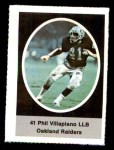 1972 Sunoco Stamps #473  Phil Villapiano  Front Thumbnail