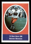1972 Sunoco Stamps  Don Horn  Front Thumbnail