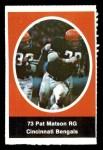 1972 Sunoco Stamps  Pat Matson  Front Thumbnail