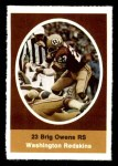 1972 Sunoco Stamps  Brig Owens  Front Thumbnail