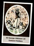 1972 Sunoco Stamps #478  George Atkinson  Front Thumbnail