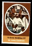 1972 Sunoco Stamps  Ernie McMillan  Front Thumbnail