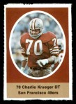 1972 Sunoco Stamps  Charlie Krueger  Front Thumbnail