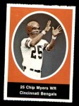 1972 Sunoco Stamps  Chip Myers  Front Thumbnail