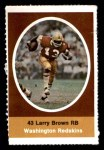 1972 Sunoco Stamps  Larry Brown  Front Thumbnail