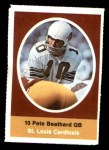 1972 Sunoco Stamps  Pete Beathard  Front Thumbnail