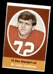 1972 Sunoco Stamps  Dan Dierdorf  Front Thumbnail