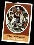 1972 Sunoco Stamps  Larry Stallings  Front Thumbnail