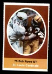 1972 Sunoco Stamps  Bob Rowe  Front Thumbnail