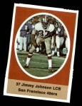 1972 Sunoco Stamps  Jimmy Johnson  Front Thumbnail