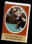 1972 Sunoco Stamps  Vic Washington  Front Thumbnail