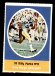 1972 Sunoco Stamps  Billy Parks  Front Thumbnail
