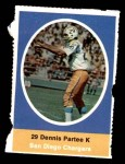 1972 Sunoco Stamps  Dennis Partee  Front Thumbnail
