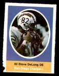 1972 Sunoco Stamps A Steve DeLong  Front Thumbnail