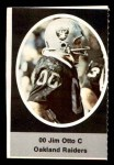 1972 Sunoco Stamps #460  Jim Otto  Front Thumbnail