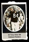 1972 Sunoco Stamps  Tony Cline  Front Thumbnail